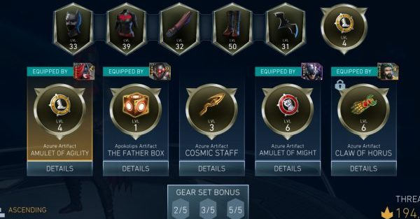 Injustice 2 artifacts