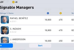 PES Mobile manager list